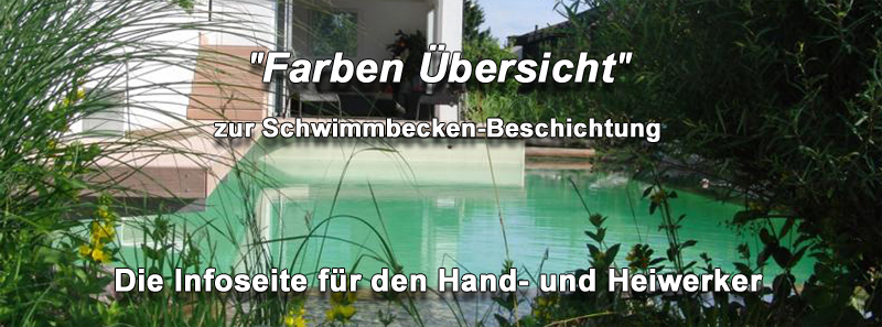 Betonbecken Betonpool Schwimmbad Schwimmbecken Farbe streichen